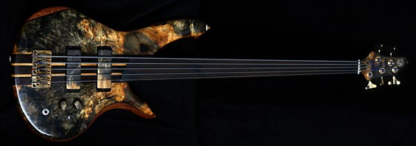 Grant Bass 5-string fretless
