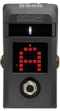 Korg Announces PitchBlack Poly Polyphonic Pedal Tuner
