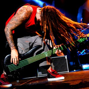 "Korn bassist Reginald ""Fieldy"" Arvizu"