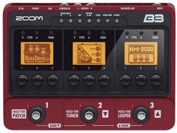 Zoom B3 Bass Effects and Amp Simulator Pedal