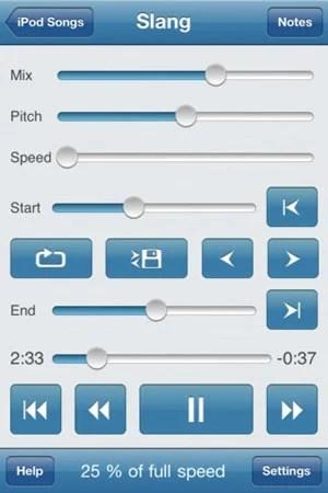 Amazing Slow Downer iPhone screen example