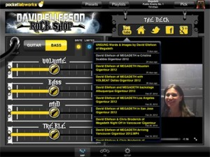 David Ellefson Rock Shop App screen - the Deck