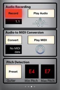 Audio MIDI Connect screen example
