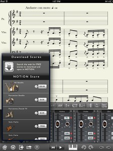 Notion for iPad: Download music scores