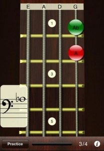 Bass Sight Reading Trainer example screen