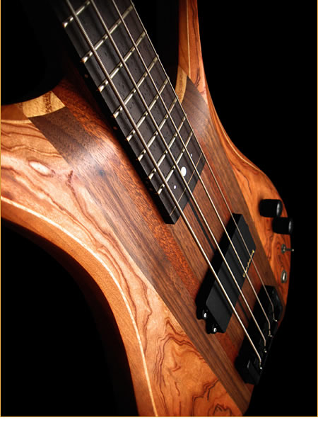 Eve Guitars Elite Fretted 4 bass - angled view