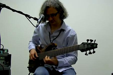 "Steve Lawson: ""Hello"" Solo Bass Cover"