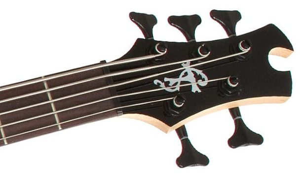 Epiphone Toby Deluxe-V Bass - Headstock