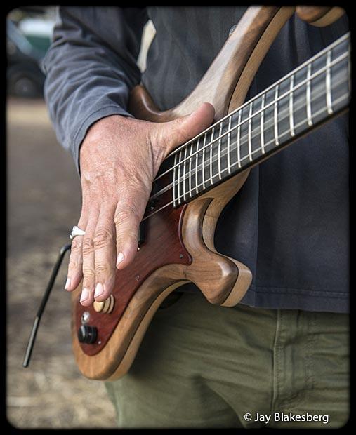 Les Claypool Personal Pachyderm Prototype Bass closeup
