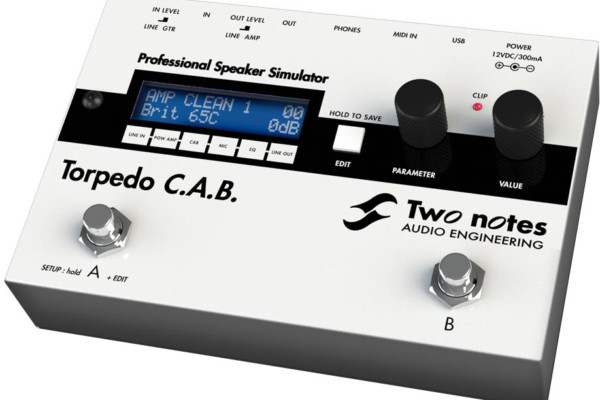 Two Notes Audio Engineering Introduces Torpedo C.A.B.