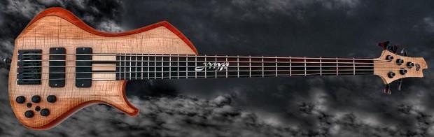 o3 Guitars Palladium Bass - full view