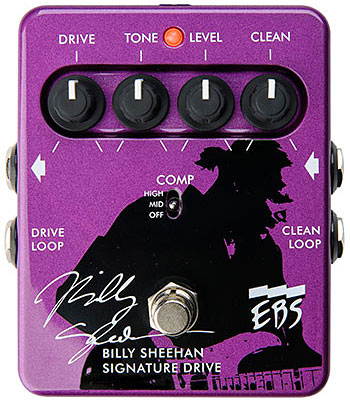 EBS Announces Billy Sheehan Signature Drive Pedal