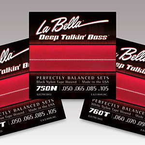 La Bella Strings Introduces 760T White Nylon Tape Wound Bass Set
