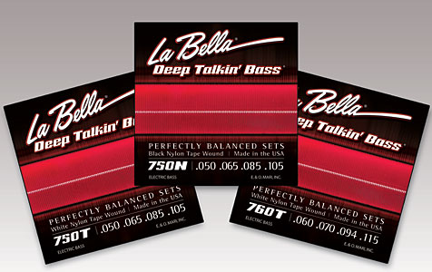 La Bella Strings Introduces 760T White Nylon Tape Wound Bass Set