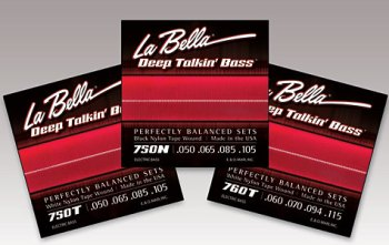 La Bella Strings 760T White Nylon Tape Wound Bass Sets