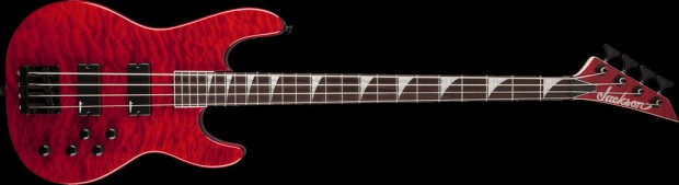 Jackson JS3QM Concert Bass 4-string Transparent Red