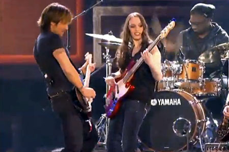 "Aubrey Harris (aka BassGirl): ""Crossroads"", with Keith Urban at ACA"