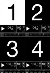 Visual Metronome example screen