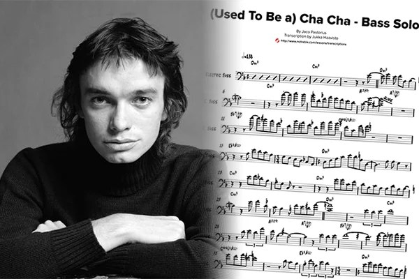 "Transcription: Jaco Pastorius' Solo on ""(Used To Be a) Cha Cha"""