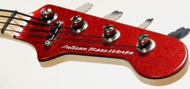 Artisan Bass Works Classic Bass - headstock closeup