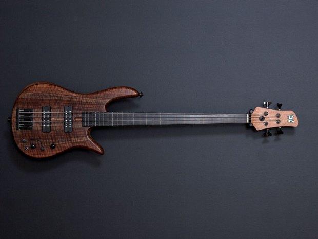 Fodera Monarch 4 Fretless Standard Bass - front