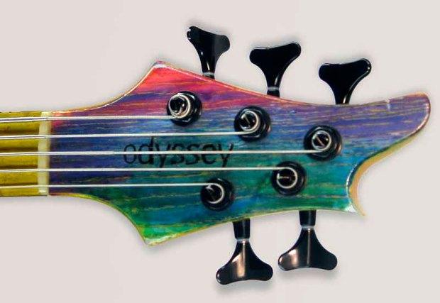 Odyssey Basses Calypso Bass headstock