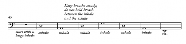 Breathing exercise 1 - for bass players