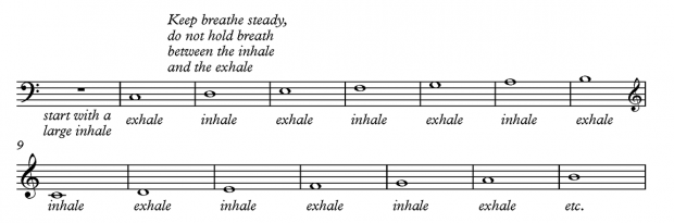 Breathing exercise 2 - for bass players