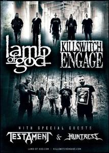 Lamb Of God/Killswitch Engage Tour Poster
