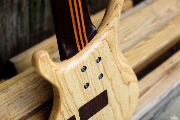 "Adam ""Nolly"" Getgood's G-Spot Basses Temptress Bass neck joint"