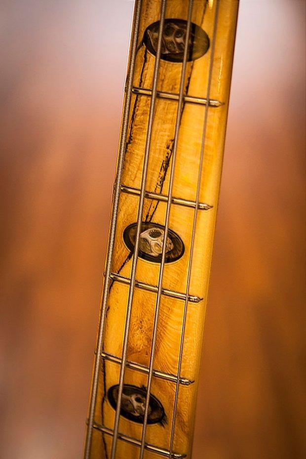 Rybski Wooten Woods Camp Bass - neck detail