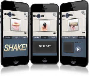 Shaker Box app screens