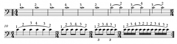 Shifting Exercises for Bass