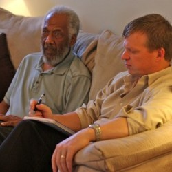 Chuck Rainey and Rod Taylor during interview