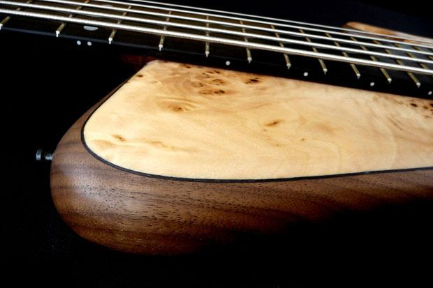Franz Bassguitars Sirius Bass - Upper Horn Closeup