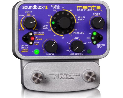 Source Audio Introduces the Soundblox 2 Manta Bass Filter