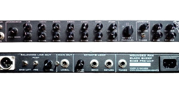 Wounded Paw Effects Announces Black Sheep Bass Preamp