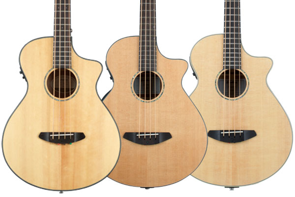 Breedlove Announces Pursuit, Solo, and Studio Acoustic-Electric Basses