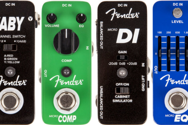 Fender Launches Four New Micro-Sized Pedals