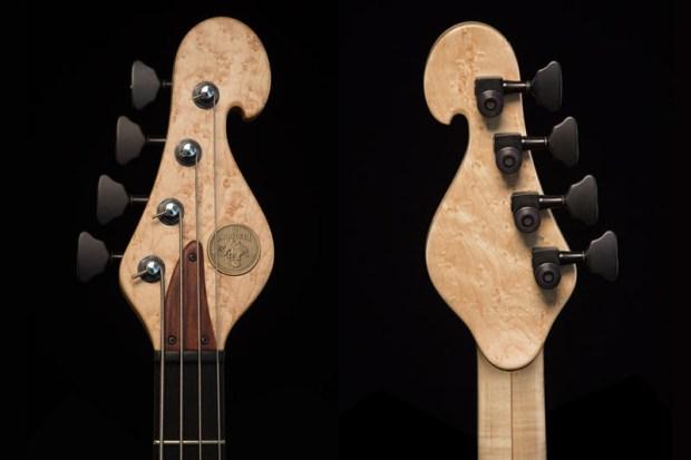 Les Claypool's Pachyderm Bass Maple 4 String Bass Headstock