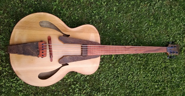 Whitt Guitars 5-String Fretless Archtop Acoustic Bass
