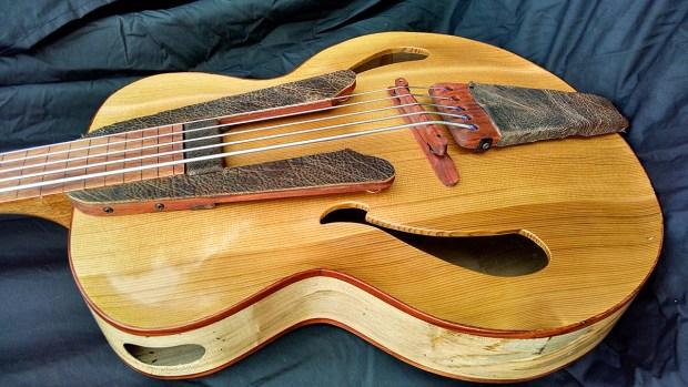 Whitt Guitars 5-String Fretless Archtop Acoustic Bass - Body