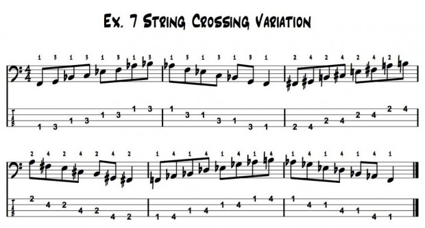 All The Good Stuff – How I Practice, Ex. 7:  String Crossing Variation