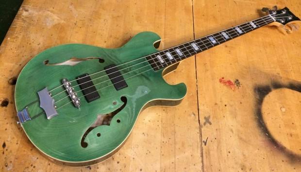 Bootleg Guitars Jazz Box 4 Bass on table