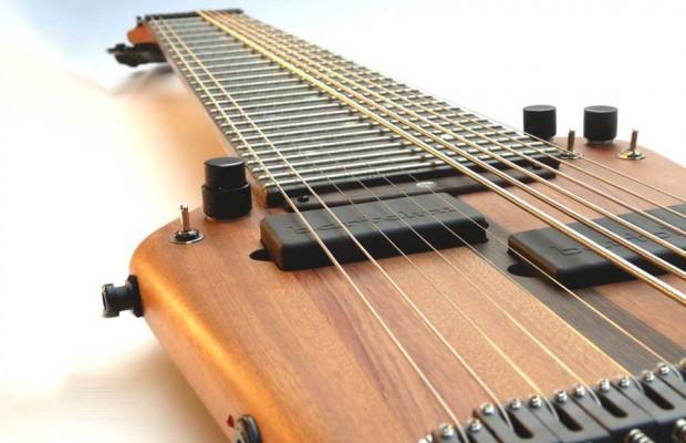 Megatar 12-string Extended Range Bass Closeup