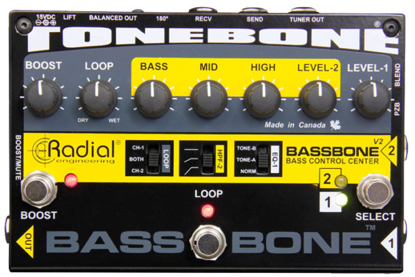 Radial Engineering Announces the Bassbone V2