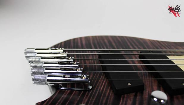 Negrini Guitars Fëanor JMS6 Bridge Detail 2