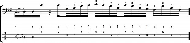 "Bass Transcription: Federico Malaman's ""Speed Demon"" - alternate"