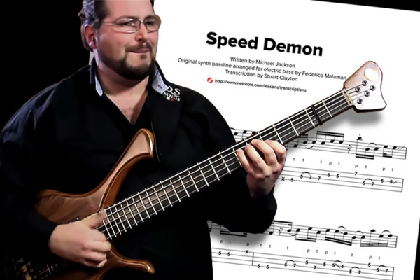 "Bass Transcription: Federico Malaman's ""Speed Demon"""