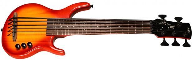 Kala 5-string SUB Solid Body Cherry Burst Bass